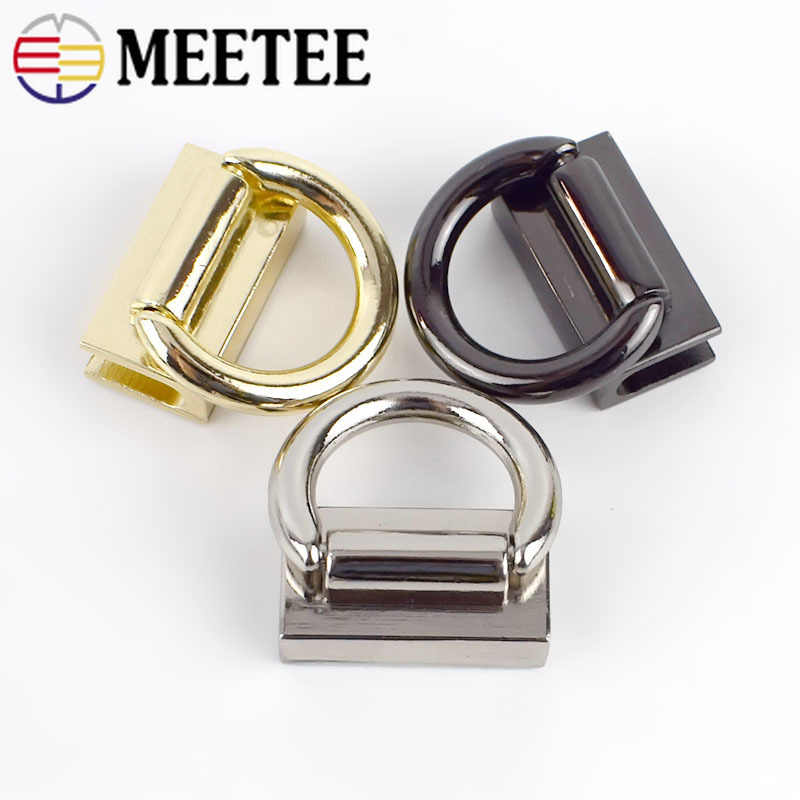 Silver Metal Buckle Accessory Metal Connector Shoe Buckle 2 PCS Metal Chain