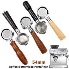 54mm café bottomless portafilter para breville 870/878/880 cesta de filtro substituição máquina espresso acessórios barista ferramenta