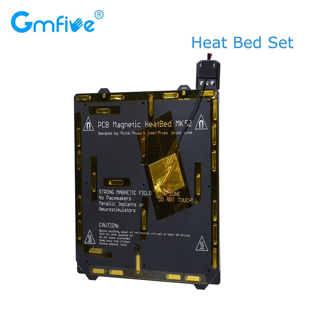 GmFive Clone Prusa I3 3D Printer Hot Bed Heated Bed MK3 PCB Magnetic With Spring Steel Plate PEI MK52 24V For Prusa i3 MK3 MK3S|3D Printer Parts & Accessories| |  - title=