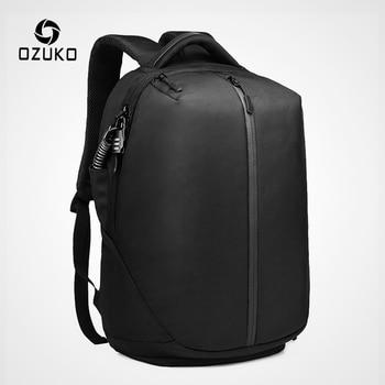 цена на OZUKO Anti Theft Laptop Backpack USB Charging School Bag Men 15.6 Waterproof Backpacks for Teenage Fashion Male Mochila Travel