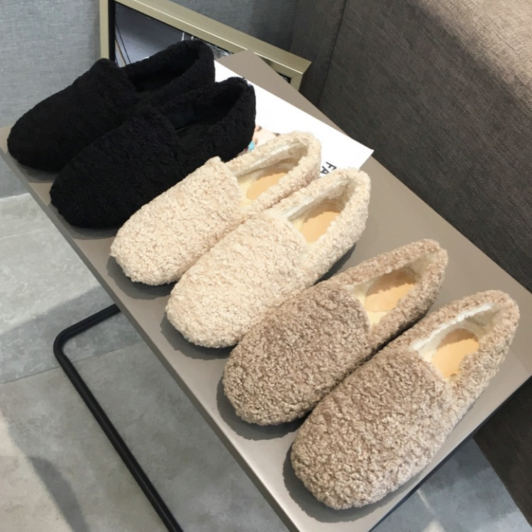 Shoes Woman 2019 Casual Female Sneakers Women Autumn Shallow Mouth Loafers Ladies Flats New Nurse Fall Slip on Comfortable Fur