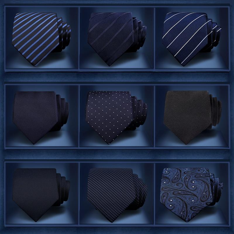 High Quality 2019 New Designers Brands Fashion Business 7cm Slim Ties For Men Silk Striped Necktie Work Wedding With Gift Box