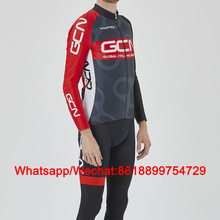 2019 GCN cycling set winter mens long thermal fleece bicycle jersey kit clothes suit uniform mtb maillot ciclismo