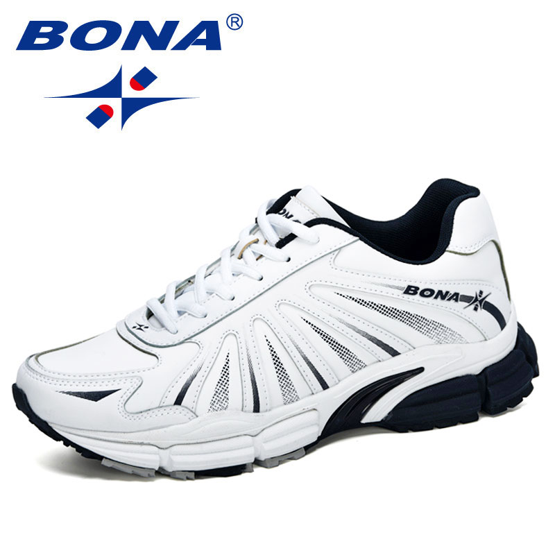 BONA 2020 New Designers Action Leather Running Shoes Men Sports Shoes Jogging Footwear Outdoor Walking Fitness Trainers Trendy