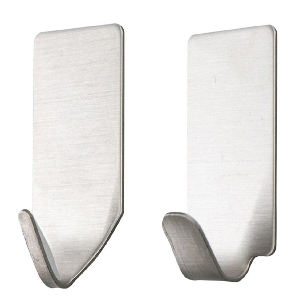 Edelstahl Klebstoff Wand Haken Halter Küche Schlafzimmer Starke Lagerung Für Kopfhörer Hanger Badezimmer Zubehör Multi-Funktion