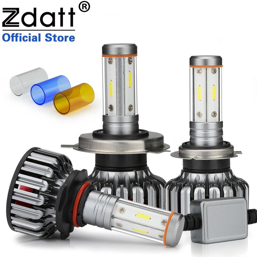 Zdatt CSP H7 Led Headlights 12V LED Bulb Lamp H4 For Car H11 9005 9006 4-Side 12000Lm 100W 3000K 6000K 8000K Car Lights