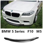 For BMW 5 Series F10 M5 2012.2013.2014.2015.2016.2017 Carbon Fiber Front Lip Spoiler Bumper Diffuser Spoilers Auto Accessories