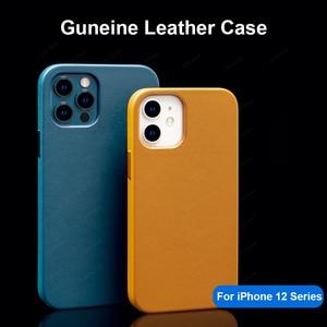 Image 3 - Capa de couro genuíno para iphone 12 pro max, estojo para celular magnético, para iphone 12 pro max