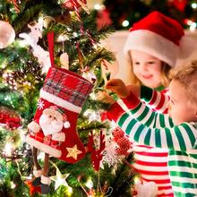 цена Christmas Stocking Mini Sock Santa Claus Candy Gift Bag Xmas Tree Ornaments Decorations Christmas Decor for Home Navidad Natal в интернет-магазинах