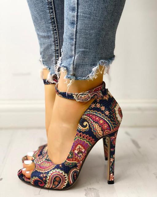 Women High Heels Pumps Sandals 5