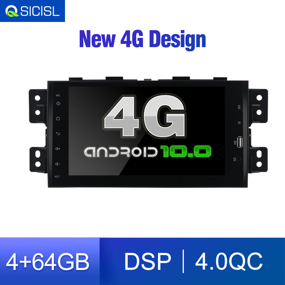 4G Android 10.0 2 din Car Radio DVD GPS for Kia Mohave / Borrego 2008-2012 Car multimedia for Mohave Free 4G Modem for sim card image