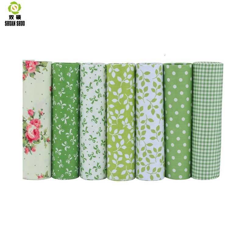 Hohe Qualität 10 Serie Floral Serie Baumwolle Patchwork Stoff Fat Quarter Bundles Stoff Für Nähen Puppe Tücher 40*50cm 7 teile/los