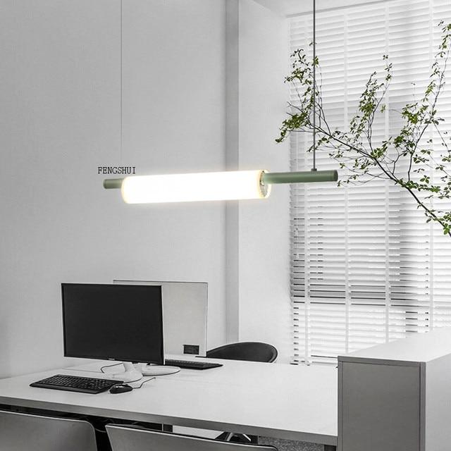 נורדי LED ברזל אמנות מים צינור תליון אורות תאורה הפוסטמודרנית לופט סלון ארוחת בר מנורת חדר שינה בר דקו אור גופי