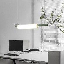 Nordic LED di Arte del Ferro Tubo di Acqua Lampade A Sospensione Illuminazione Postmoderna Loft Soggiorno Pasto Bar Lampada Camera Da Letto Apparecchi di Bar Deco Luce
