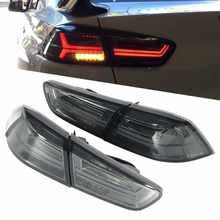 Bombillas VLAND completas de LED dinámica luces de cola humo lente apto para Mitsubishi Lancer/Evo X 2008, 2009, 2010, 2011, 2012-2017 ABS + PMMA + PC
