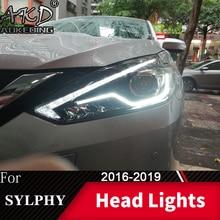Reflektor do samochodu Nissan Sylphy 2016-2019 Sentra reflektory światła przeciwmgielne światła do jazdy dziennej DRL H7 LED Bi żarówka ksenonowa akcesoria samochodowe
