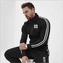 Laamei Mens Veste Homme Argyle Zipper Jacket Casual 2019 Autumn New Trend White Fashion Printing  Jackets