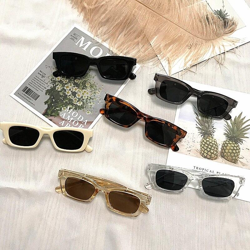 Lunettes de soleil rectangulaires Vintage pour femmes, 1 pièce, lunettes de soleil rétro à Points, lunettes œil de chat