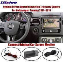 Liislee For Volkswagen Touareg 2014~2016 Compatible Original Screen Reverse Trunk Handle Camera Intelligent Dynamic Trajectory