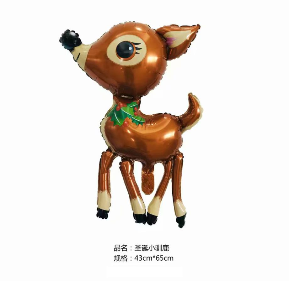 Cartoon Hat 3D Cute Deer Helium Foil Balloons Cartoon Elk Animal Balloon Baby Shower Birthday Wedding Party Decoration Supplie