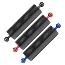 Brazo flotador de flotabilidad de fibra de carbono, brazo flotante de doble bola, bandeja para cámara de buceo para DJI OSMO para cámaras deportivas Gopro/Xiaoyi/EKEN
