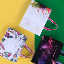 New Fashion Non-woven Fabric Shopping Bag Reusable Solid/Flower Foldable Tote Pouch Eco Waterproof Women Storage Grocery Bag(China)