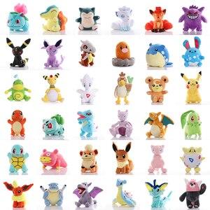 Charmander Bulbasaur Squirtle Pikachued Cartoon plush toys pokemoned Eevee Snorlax Gengar Jigglypuff Stuffed doll gifts for kid