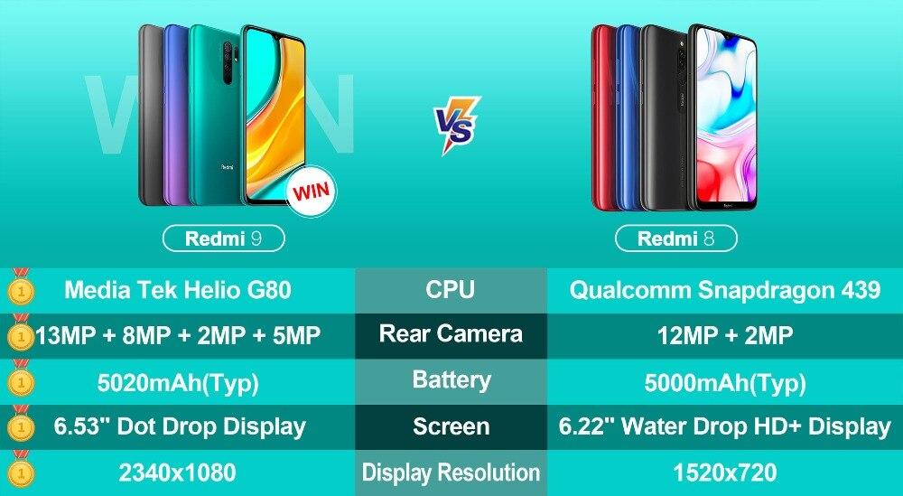 REDMI 9 VS REDMI 8