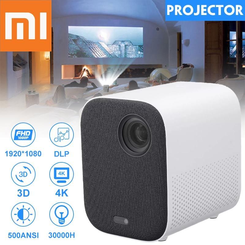 XIAOMI Mijia projektor MINI TV Full HD 1080P 3D LED AI 2 + 8GB 30000 Wifi bluetooth SJL4014GL DLP pełna dla teatru wersja globalna