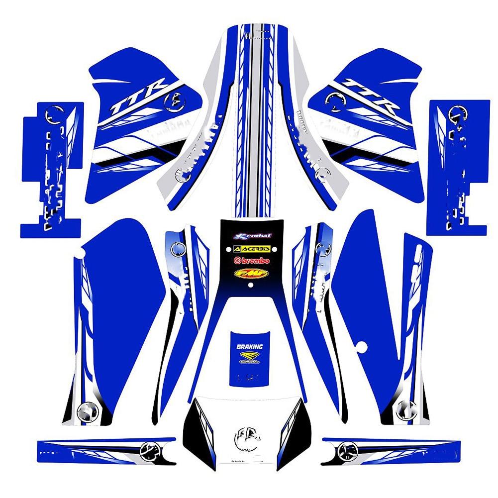 Полный набор наклеек 3M, наборы, графический фон для мотоцикла, наклейки для YAMAHA TTR250 TT-R 250 для YAMAHA 250 TTR 250