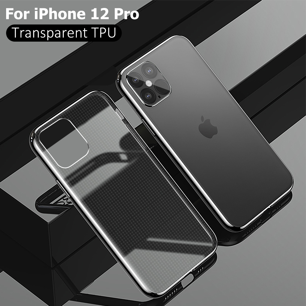For iPhone 12 Pro Max Ultra Thin Clear Phone Case For iPhone 12 Pro 12 Mini 12pro Silicone Soft Shockproof Transparent Back Case