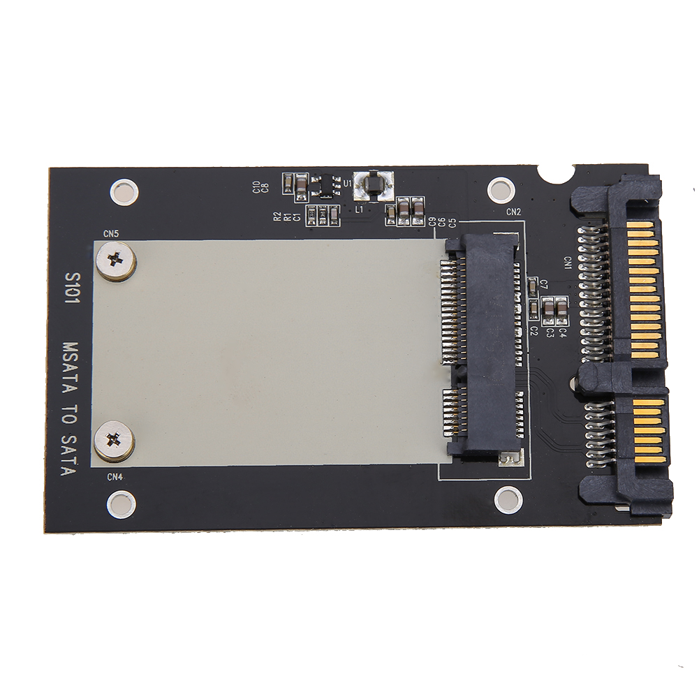Universal MSATA Mini SSD To 2.5 Inch SATA 22-Pin Converter Adapter Card For Windows2000/XP/7/8/10/Vista Linux Mac 10 OS