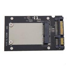 Universal msata mini ssd para 2.5 polegada sata 22 pinos conversor adaptador cartão para windows2000/xp/7/8/10/vista linux mac 10 os