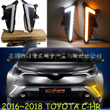 цена на LED Daytime Running Light For Toyota C-HR CHR 2016 2017 2018 2019 Car Accessories Waterproof ABS 12V DRL Fog Lamp Decoration