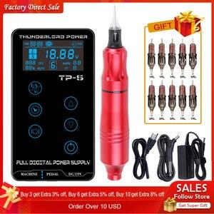 Image 1 - Biomaser Kit de Machine à tatouer complet à TP 5, stylo rotatif avec cartouches, aiguilles, pistolet, alimentation électrique professionnelle