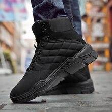 Новинка года; зимние ботинки; мужские кроссовки; водонепроницаемые ботинки для влюбленных; обувь из флока на меху