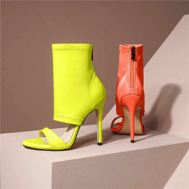 Asumer 2020 venda quente sandálias gladiador sapatos femininos zíper sexy fino salto alto festa de formatura sapatos verão sandálias mulher tamanho grande 43