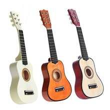 21 Polegada 6 cordas da guitarra acústica com picareta para iniciantes prática 3 cores crianças instrumentos musicais de cordas presente
