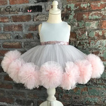 Милые винтажные пышные атласные платья принцессы с бантом для