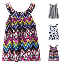 цена на Dresses 2020  Toddler Baby Girl Clothes Summer Sleeveless Print Princess Dress Kids Dresses For Girls Clothes