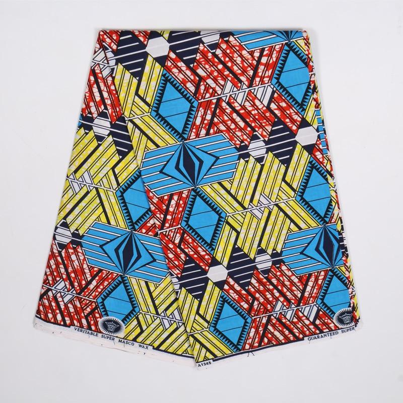 2020 Dutch Wax High Quality African Fabric Colourful Print Fabric Pagne Wax 6Yards