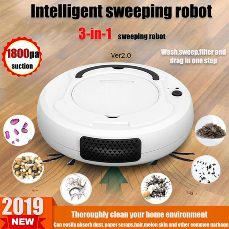 Smart Sweeping Robot Vacuum Cleaner Floor Edge Dust Clean Auto Suction Sweeper