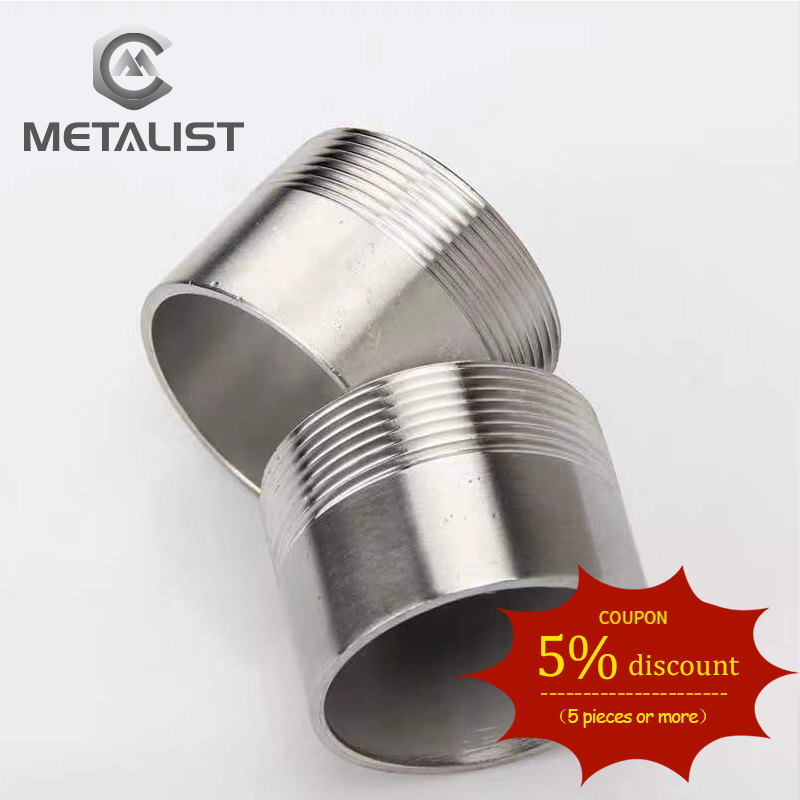 METALIST High Quality DN65 SS304 Stainless Steel Sanitary Single Female Thread Pipe Fittings New For Home Brew
