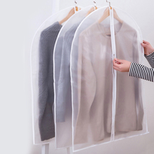 6pcs/set PEVA  Clear Clothing Dust Cover Garment Bag Cloth Hanging Organizer Suit Coat Waterproof Protector Closet Storage Bags