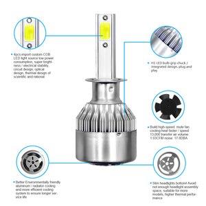 Image 2 - PANDUK C6 H1 H3 Led Headlight Bulbs H7 LED Car Lights H4 880 H11 HB3 9005 HB4 9006 H13 6000K 72W 12V 8000LM Auto Headlamps