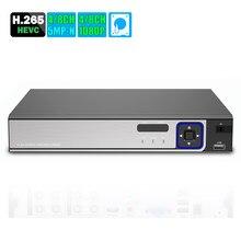 Caméra de sécurité hybride 6 en 1 H.265 5MP-N AHD DVR NVR XVR CCTV 8Ch AHD-H 1080P, 4mp 5mp, caméra de sécurité hybride Onvif XVI Coxial P2P Xmeye