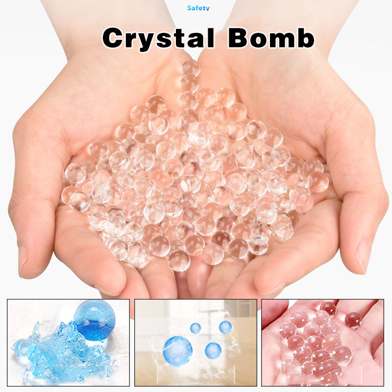 7-8mm Hydrogel Pearl Shaped Crystal Soil Water Beads Mud Grow Ball Wedding Kids Toy Growing Water Ball Bullet For Gun