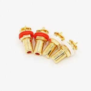 Image 5 - 24K Gold Plated RCA Jack RCA Terminal Sockets Gold Plated jack 4pcs