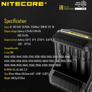 Image 5 - Nitecore i8 Intelligent Charger 8 Slots Total 4A Output Smart Charger for IMR18650 16340 10440 AA AAA 14500 26650 and USB Device