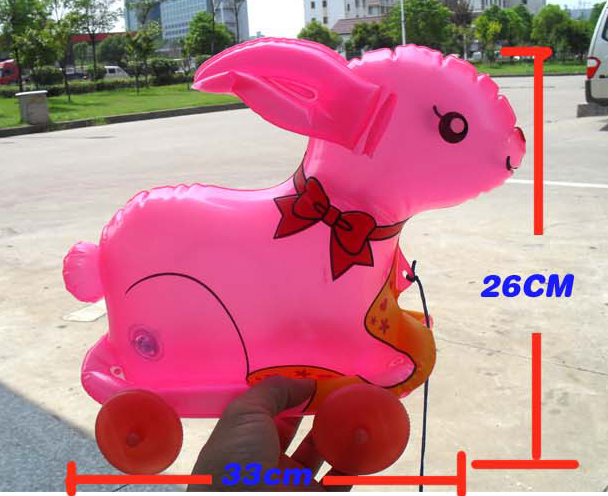 Inflatable Animal Inflatables Air Flushing Children Stay Inflatable Toys Pvc Plastic Hand Rabbits 2-4 Years Child Funny Toy Boy